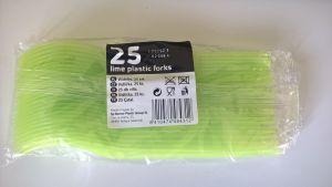 Plastová vidlička 25 ks zelená