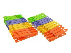 Kolíčky plastové sada 24ks multicolor