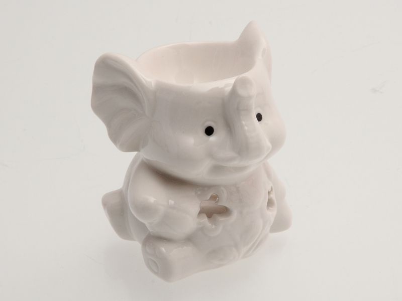 Keramická aroma lampa bílá - slon Unihouse