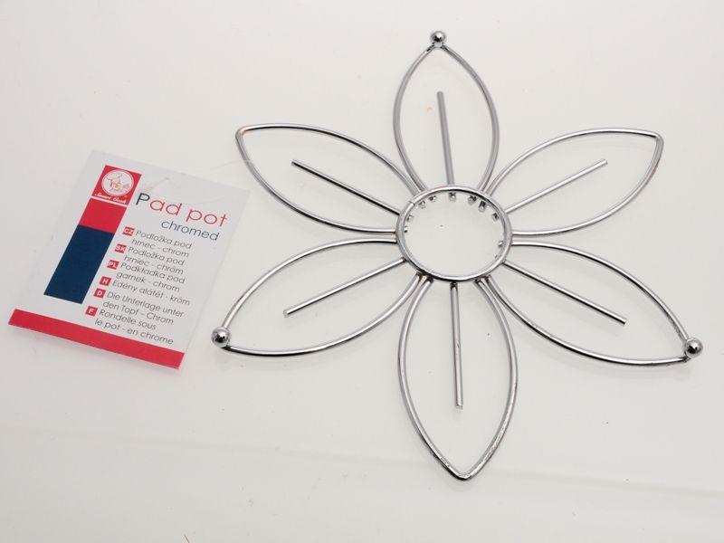 Pochromovaná podložka pod horké nádobí 24 cm květina Smart Cook