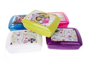 Svačinový box pro děti s potiskem - 1,3l + vložka