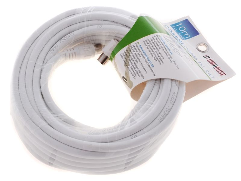Koaxiální kabel (TV, SAT) 10m Unhouse