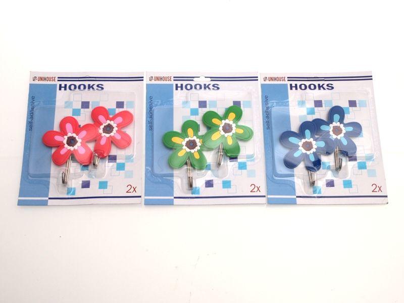 Samolepící háčky 2 ks květiny Unhouse