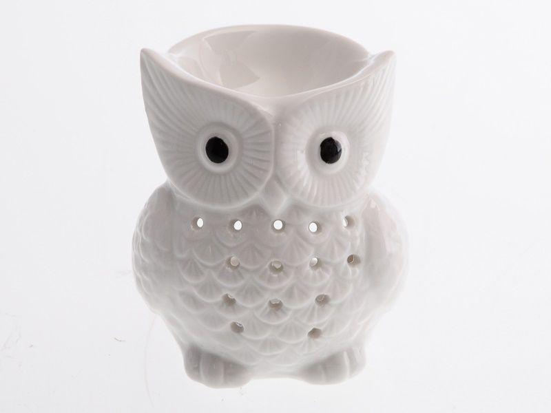 Aroma lampa keramická - sova 10 cm Unhouse