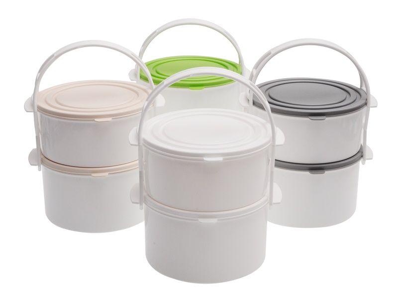 plastový jídlonosič 2 patrový 1,3l + 1.7l Smart Cook