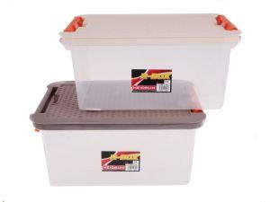 Úložný box 4604 CLIP 14L víko Rattan