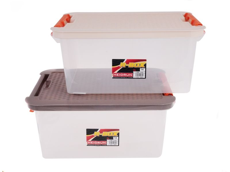 Úložný box 4604 CLIP 14L víko Rattan Heidrun