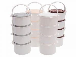 plastový jídlonosič 4 patrový 3x1l+1.3l