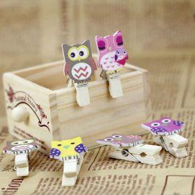 dekorační dřevěné kolíčky - soviček - 6 ks Teamstar