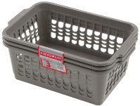 plastový košík na pečivo 3ks 30 x 20 x 11 cm 31093 Heidrun