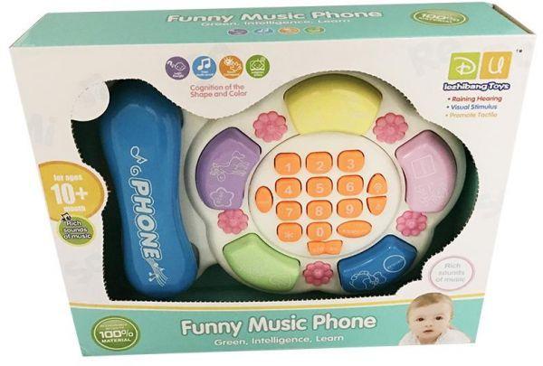 Telefon dětský hudební a naučný