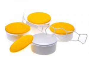 Jídlonosič 4 patrový plastový 3x1l + 1,7l Smart Cook
