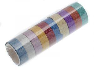 10 ks dekorační lepicí pásky se třpytkami- 3 m x 15 mm