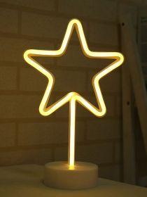 Hvězda 31 cm, vánoční dekorace s LED světlem
