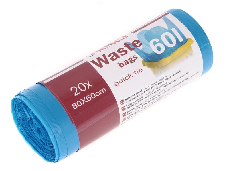 Sáčky na odpad s uchy 60 l 20 ks Unihouse