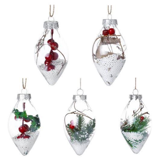 Vánoční dekorační ozdoby 12 cm