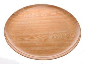 Tác plastový, imitace dřeva 32 cm