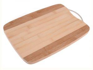 Krájecí deska bambusová s kovovou rukojetí 24 x 34 cm