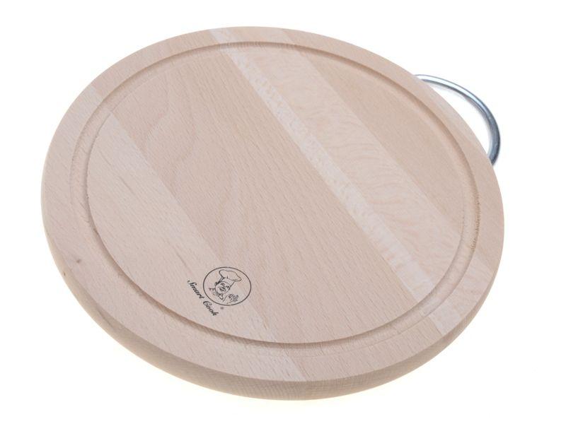 Prkénko bukové kulaté 20 cm s kovovou rukojetí Smart Cook