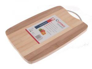 Krájecí deska bambusová s kovovou rukojetí 22 x 32 cm Smart Cook
