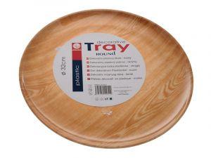 Tác plastový, imitace dřeva 32 cm Smart Cook