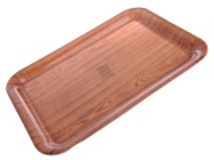 Tác plastový 31 x 43 cm imitace dřeva