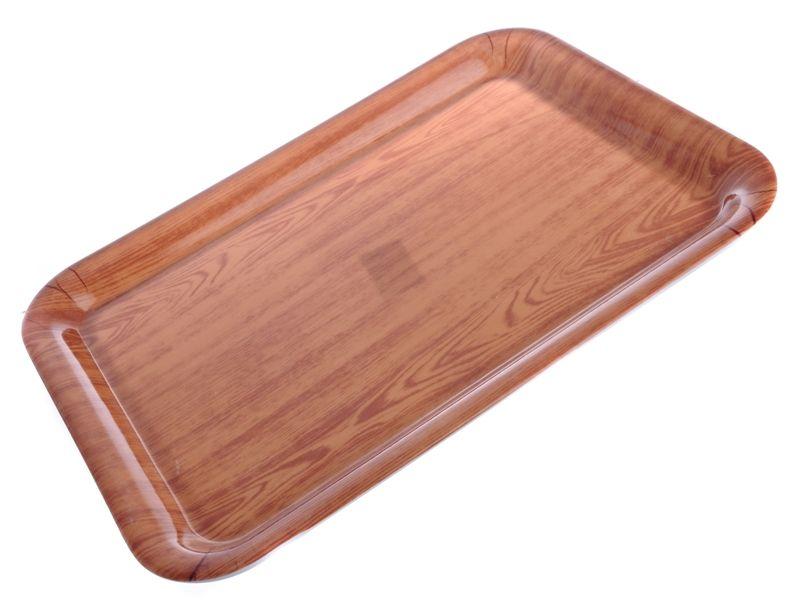 Tác plastový 31 x 43 cm imitace dřeva Smart Cook