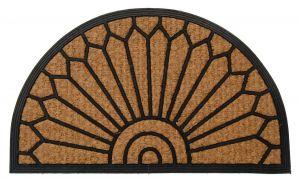 Kokosová gumová vstupní rohožka 40 x 60 cm půlkruhová