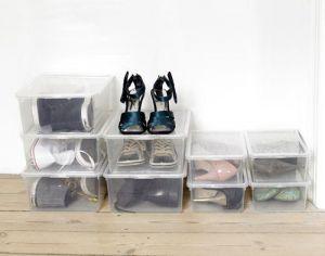 Úložný box na boty s víkem 26x39x13,5 cm průhledný Unhouse