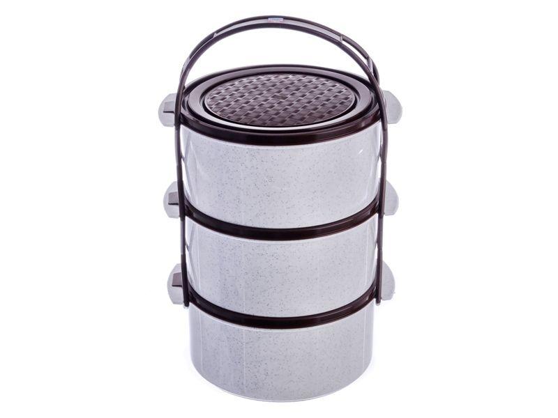 Jídlonosič plastový 3 patrový 3x1,5 L Smart Cook