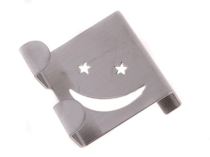 Háček nerezový závěsný dvouháček SMILE Unihouse