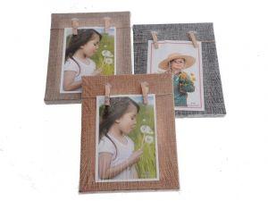 Otevřený fotorámeček s kolíčky pro 1 fotografie