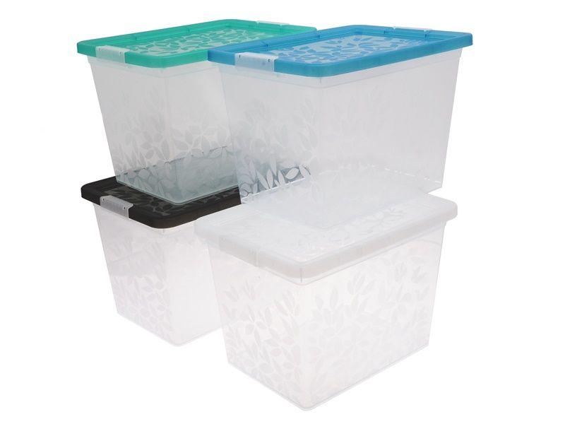 Jasmine- úložný kontejner/box s víkem 22l BranQ