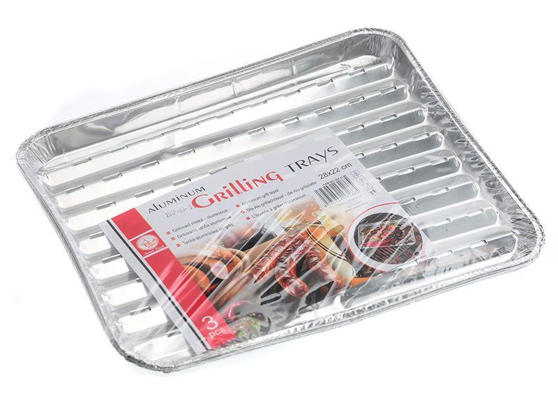 Grilovací miska aluminiová 28x22 cm 3 ks Smart Cook