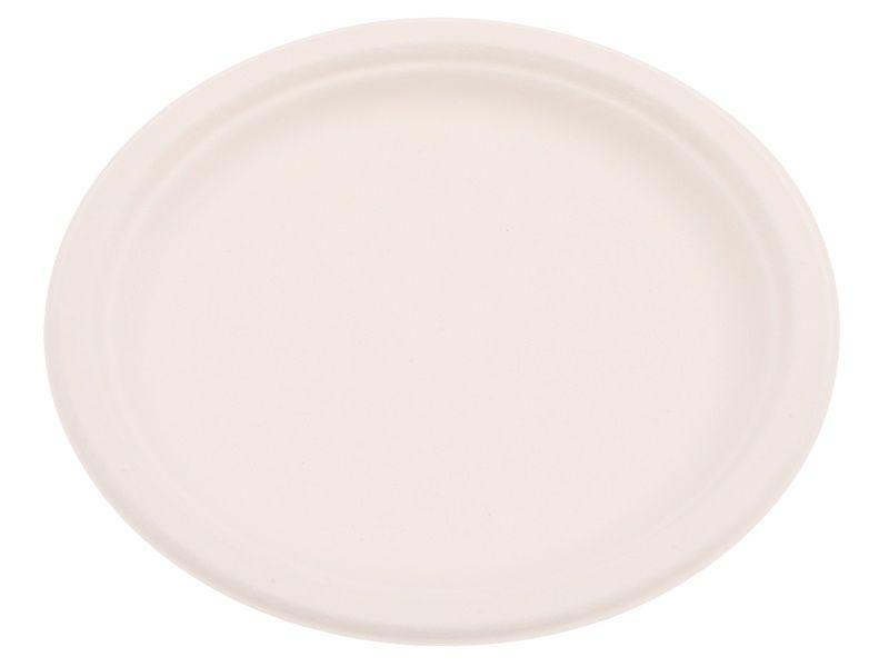 Kulatý talíř 23cm z cukrové třtiny 12ks Smart Cook