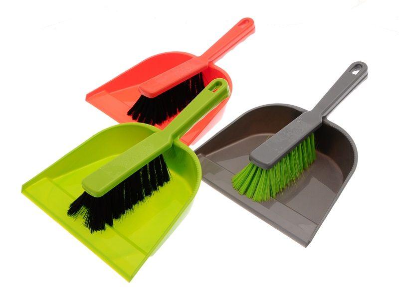 Smetáček + lopatka bez gumy 22x31/26x3,5 cm chlup 5 cm plast mix barev Unihouse
