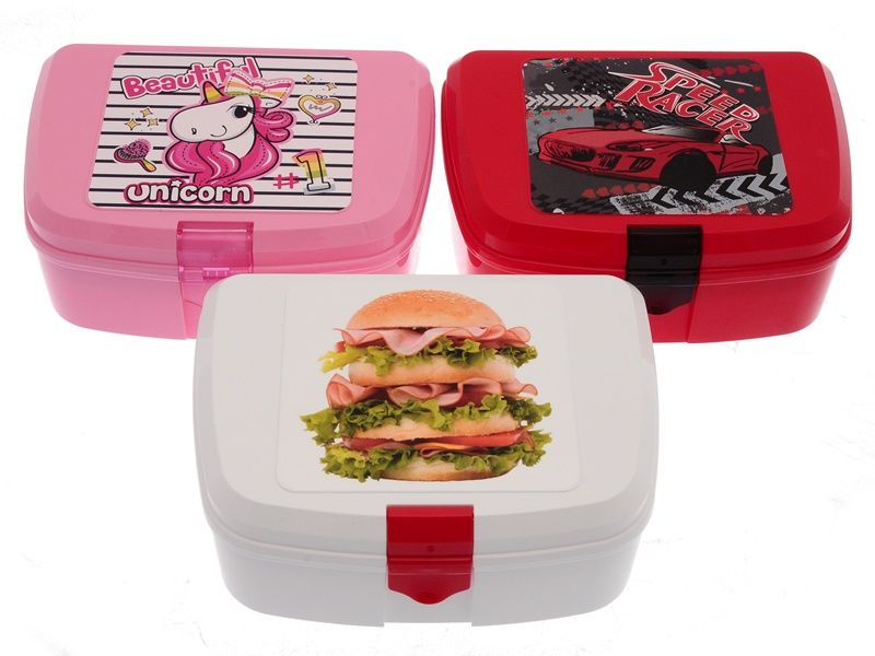 Svačinový box pro děti s potiskem 12,7x16,6x7cm + vložka Smart Cook