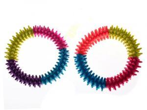 barevný dentální gumový kruh pro psa