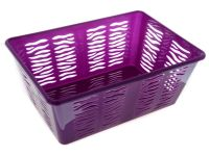 Plastový košík zebra 36x25x15cm Unihouse