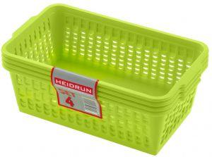 Sada košíčků 4ks, 8 x 25 x 14,5 cm, mix barev 41092 Heidrun
