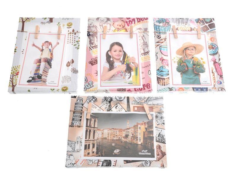Otevřený fotorámeček s kolíčky na 1 fotku Unihouse