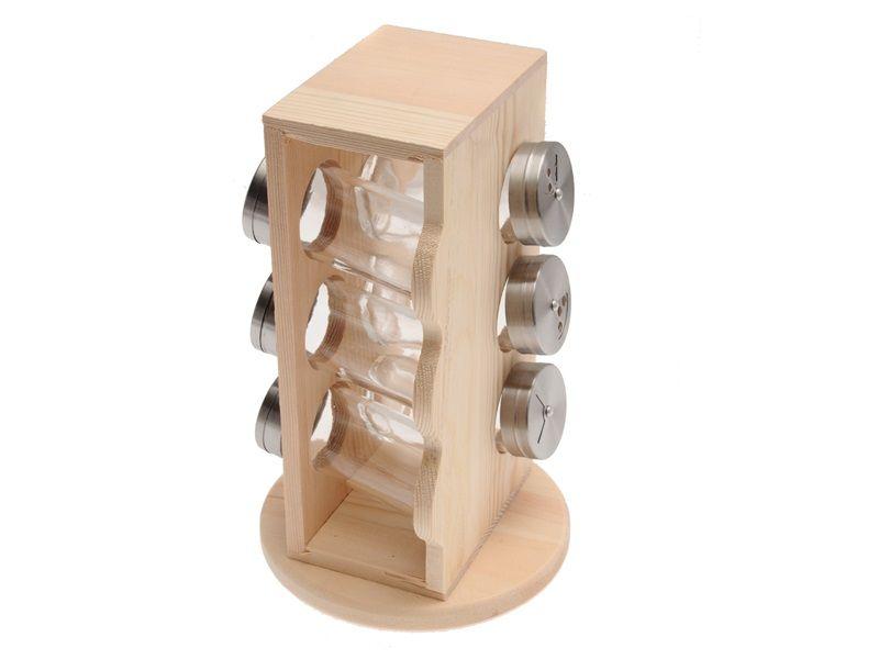 Sada kořenek s dřevěným stojanem, 7dílná sada Smart Cook