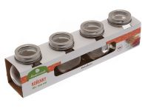 Skleněné kořenky 8x6x8cm 4ks Smart Cook