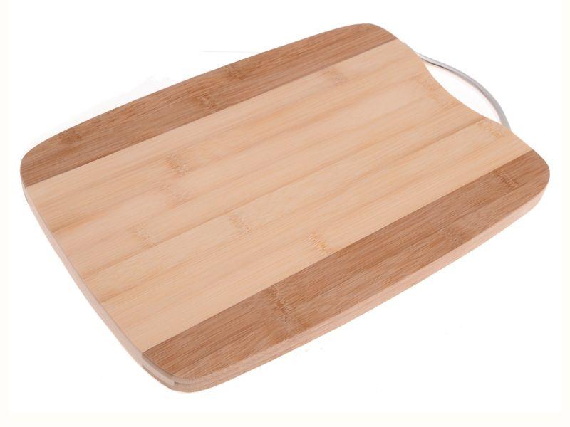 Krájecí deska bambusová s kovovou rukojetí 20 x 30 cm Smart Cook