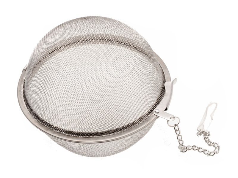 Kulaté čajové sítko z nerez oceli a řetízkem 9 cm Smart Cook