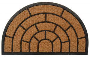 Kokosová gumová vstupní rohožka 40 x 60 cm půlkruhová Unihouse