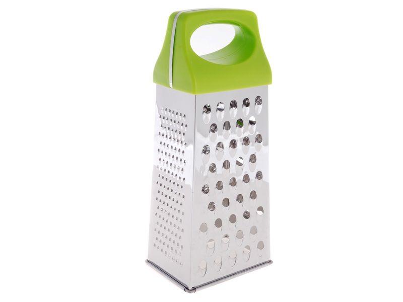 Struhadlo nerezové 4-stranné 24,5 cm se zelenou rukojetí Smart Cook