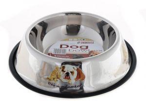 Nerez miska pro psy s gumovou hranou proti převrhnutí 22 cm Zoomax