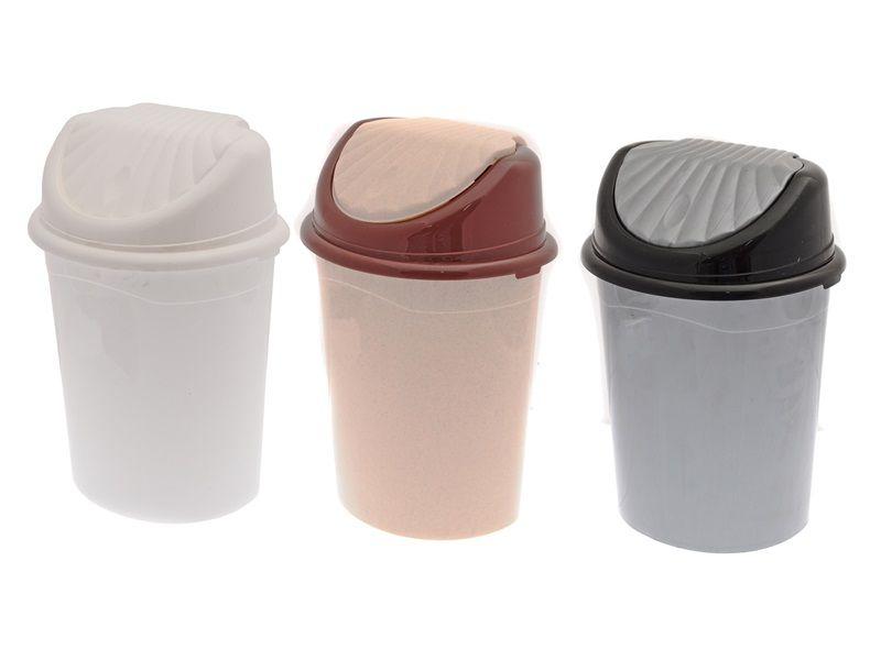 Odpadkový koš s výklopným víkem 7L Unihouse