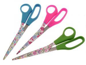 Kancelářské nůžky 21 cm s motivem květin
